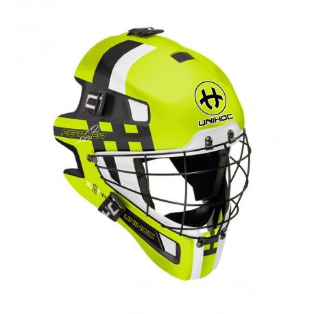 UNIHOC Goalie Mask Unihoc Summit 44 Feather neon yellow
