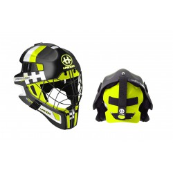 UNIHOC Goalie Mask Unihoc Summit 66 Feather black/yellow
