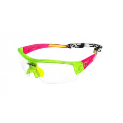 UNIHOC Eyewear Victory junior crystal green/red