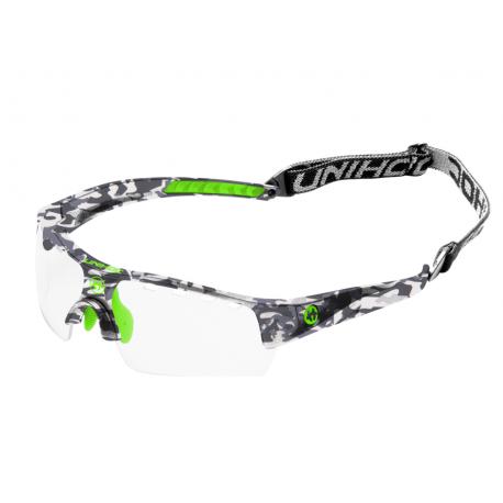 UNIHOC Eyewear Victory junior camo/neon green