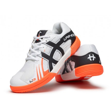 UNIHOC Shoe U3 Junior Unisex white/orange