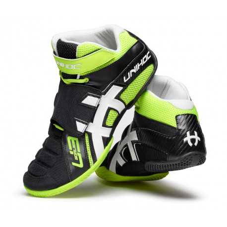 UNIHOC Shoe U3 Goalie neon yellow/black