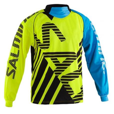 SALMING Travis Goalie Jersey Yellow/Blue vel. L