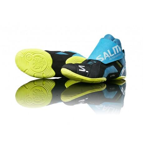 SALMING Slide 5 Goalie Shoe Cyan/Black