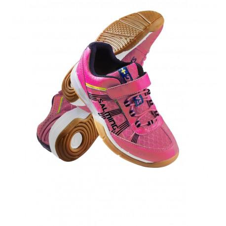 SALMING Viper Kid Pink Glo Velcro
