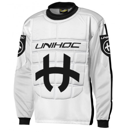 UNIHOC Goalie sweater Shield white/black SR