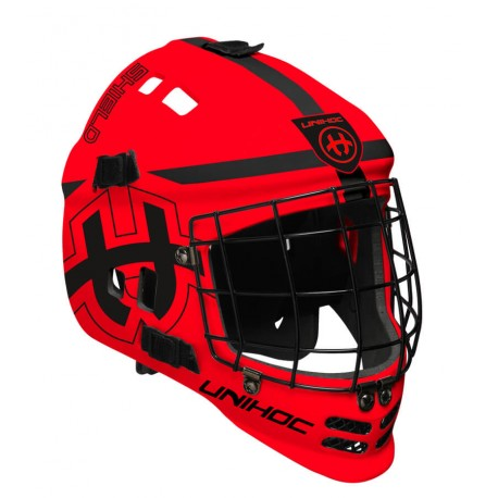 UNIHOC Goalie Mask Unihoc Shield neon red/black
