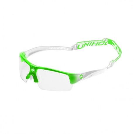 UNIHOC Eyewear Victory junior neon green/white
