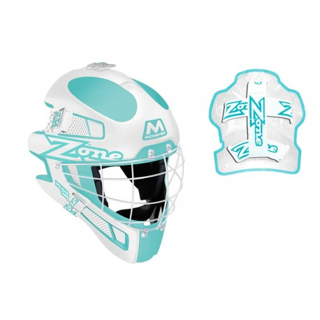 ZONE Goalie mask Monster Square Cage light turquoise/white