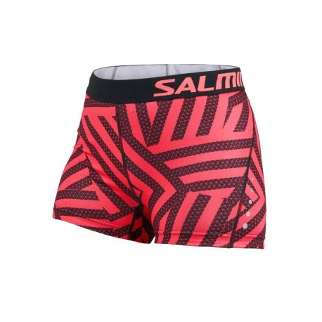 SALMING Energy Shorts Wmn Coral/All Over Print