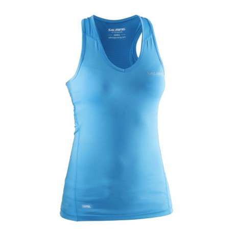 SALMING Running Tanktop Women Cyan Blue