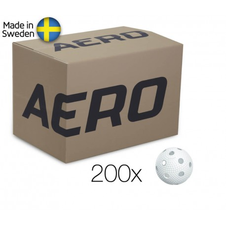 SALMING Aero Ball White 200 Box