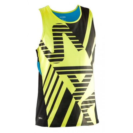 SALMING Running Race Singlet Men Acid Green