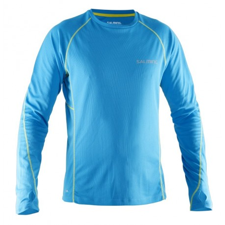 SALMING Running LS Tee Men Cyan Blue