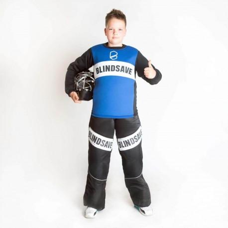 BLINDSAVE KIDS goalie jersey blue