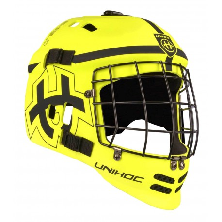 UNIHOC Goalie Mask Unihoc SHIELD neon yellow/black