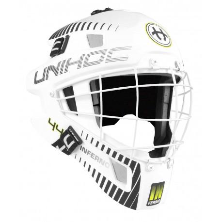 UNIHOC Goalie Mask Unihoc INFERNO 44 white/black