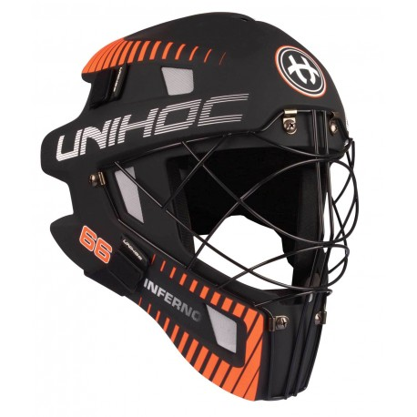 UNIHOC Goalie Mask Unihoc INFERNO 66 black/neon orange