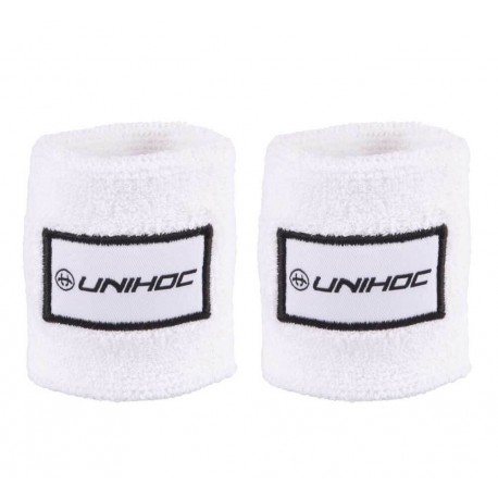 UNIHOC Wristband TERRY 2-pack white/black