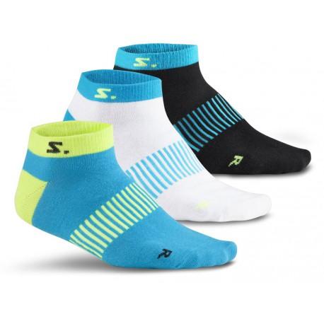 Běžecké ponožky SALMING Running Ankle Sock 3-pack CyanMix.