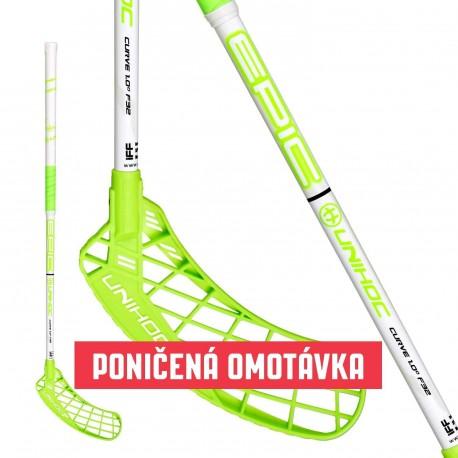 UNIHOC Stick EPIC Curve 1.0° 32 white/green 87cm L - zašpiněná omotávka