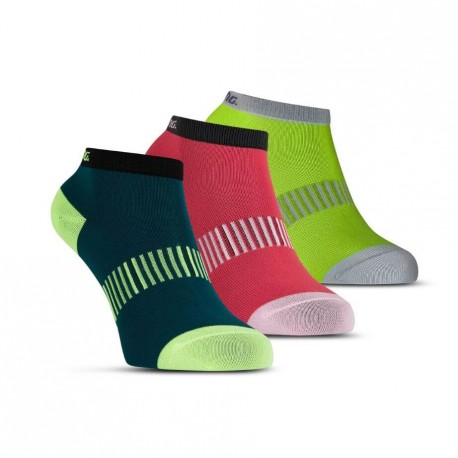 SALMING Performance Ankle Sock 3-pack Teal/Yellow/Red