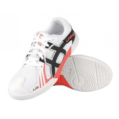 UNIHOC Shoe U3 Junior white/red