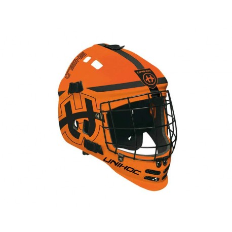 UNIHOC Goalie Mask Unihoc Shield neon orange/black