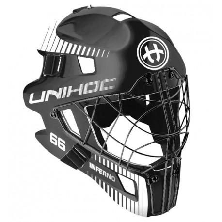 UNIHOC Goalie Mask Unihoc INFERNO 66 black/white