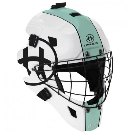 UNIHOC Goalie Mask Unihoc Keeper 44 turquoise/white