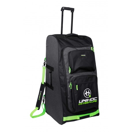 UNIHOC Goalie bag OXYGEN LINE large (with wheels) black