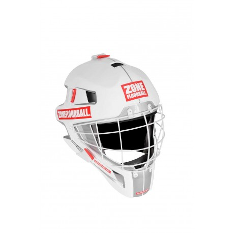 ZONE Goalie Mask Monster Square Cage white/red