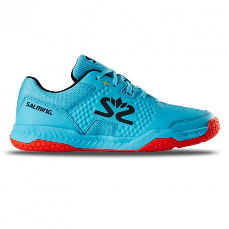SALMING Hawk Court Junior Shoe Blue/Red