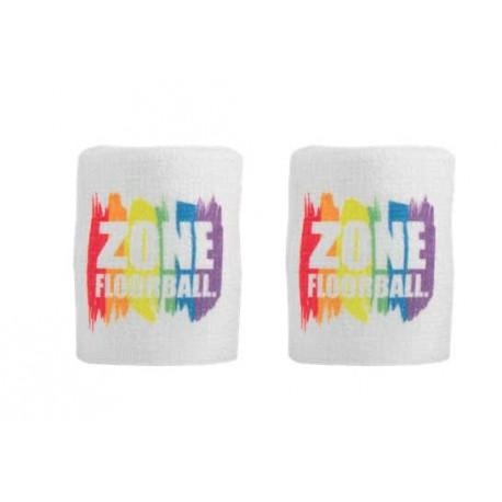 ZONE Wristband PRIDE white/rainbow 2-pack