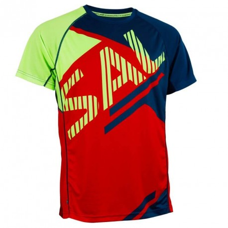 SALMING Bold Print Tee Red/Blue