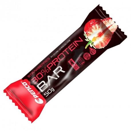 PENCO Protein Bar 50g Jahoda V Hořké Čokoládě