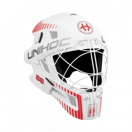 UNIHOC Goalie Mask Unihoc INFERNO 66 white/neon red