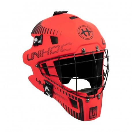UNIHOC Goalie Mask Unihoc Inferno 44 red/black