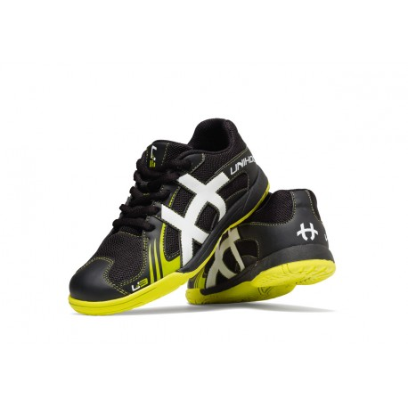 UNIHOC Shoe U3 Junior Unisex black/lime