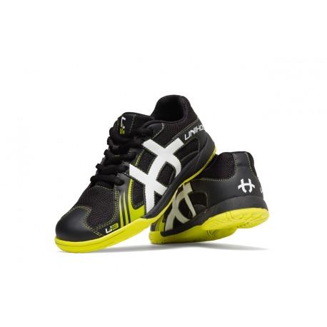 UNIHOC Shoe U3 Junior Unisex black/lime