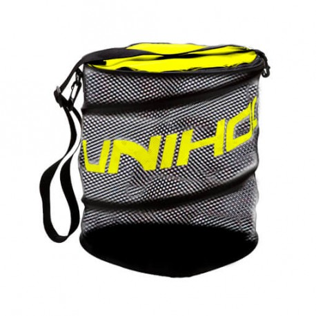 UNIHOC Ball Bag Flex black/neon yellow