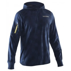Run Hexagon Hood Men Blue Front