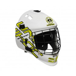 UNIHOC Goalie mask Blocker white/neon žlutá