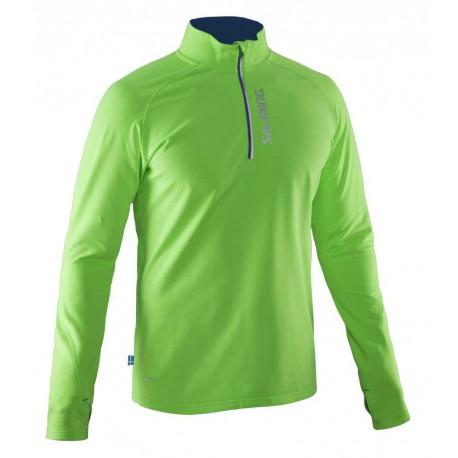 Run Halfzip LS Tee Men Gecko Green