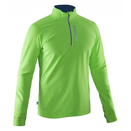 Run Halfzip LS Tee Men Gecko Green