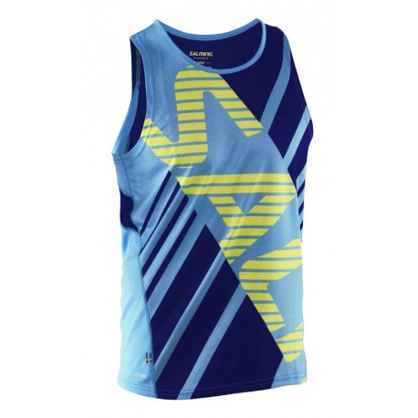 Run Race Singlet Men Cyan/Navy