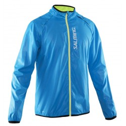 Ultralehká běžecká bunda SALMING Run Ultralite Jacket Men Cyan Blue.