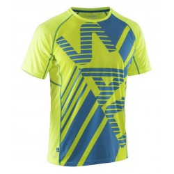 Běžecké tričko SALMING Running Tee Men Yellow/Cyan.