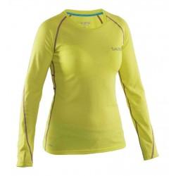 Dámské běžecké triko s dlouhým rukávem SALMING Run LS Tee Wmn Strong Lime.
