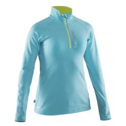 Dámská běžecká mikina se zipem SALMING Running Halfzip LS Women Turquoise.